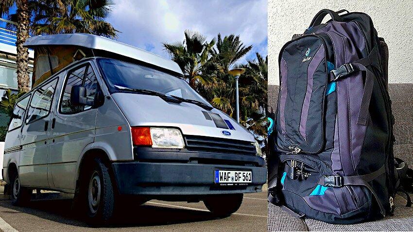 Backpack vs. Campervan - ein Vergleich
