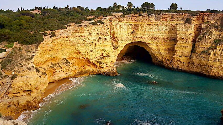 Wandern Algarve Klippen